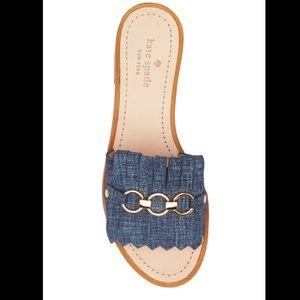 KATE SPADE🍂🍁Brie denim sandals 8.5